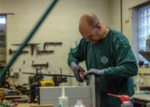 Warren Roofing Technician Building Aluminum Roofing Parts